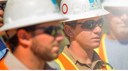PG&E employees in hardhats