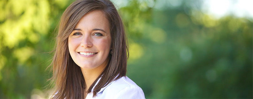 A young doctor happy to be growing her career with Bon Secours.