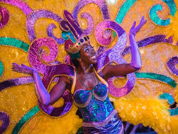Dancer in Mardi Gras parade
