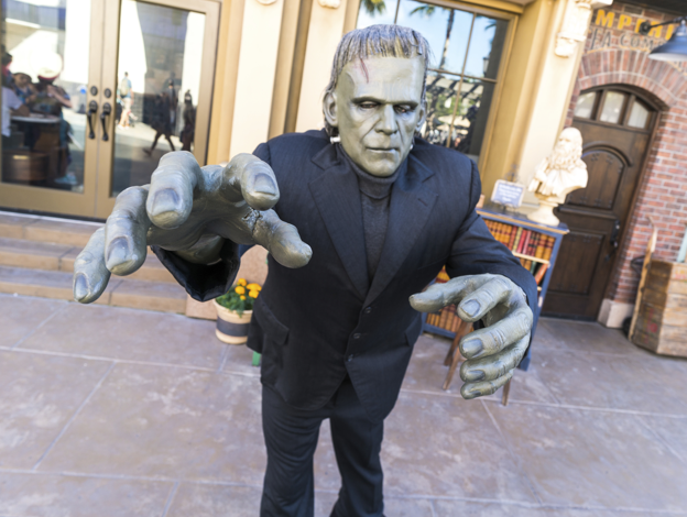 Team Member dressed like Frankenstein acts the part for the enjoyment of our guests