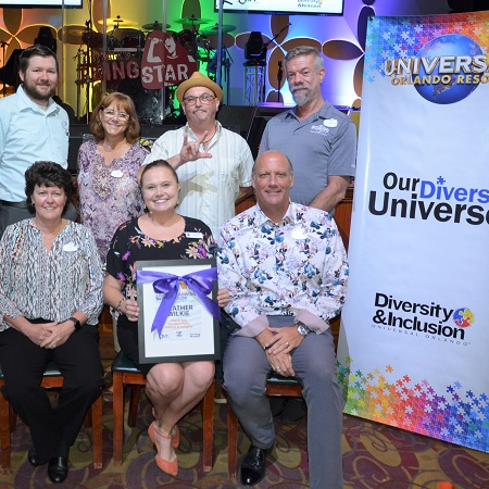 Group of Team Members at the Universal Orlando Resort 'Our Diverse Universe' event.