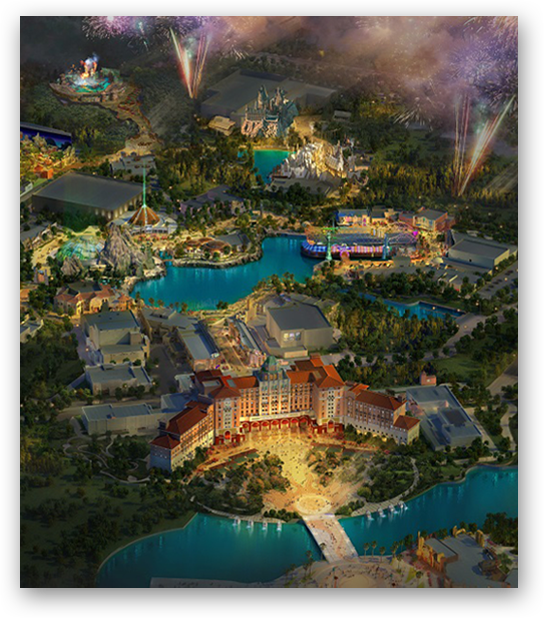 Artist rendering of Universal Beijing Resort