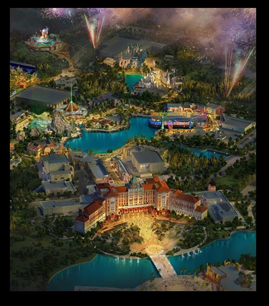 Artist rendering of Universal Beijing Resort