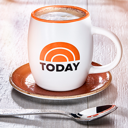 Stylized coffee mug emblazoned with the Today Show on NBC logo