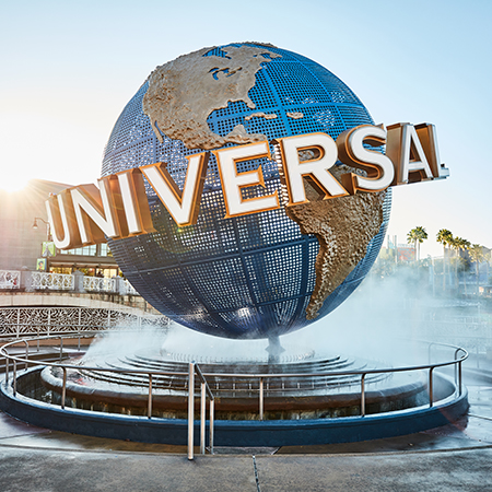Universal globe water fountain