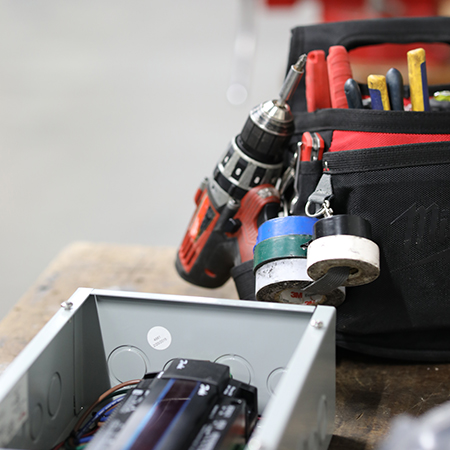 Tool bag belonging to Engineering Team Member