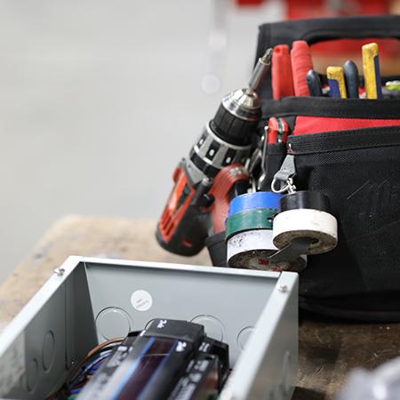 Tool bag belonging to Engineering Team Member