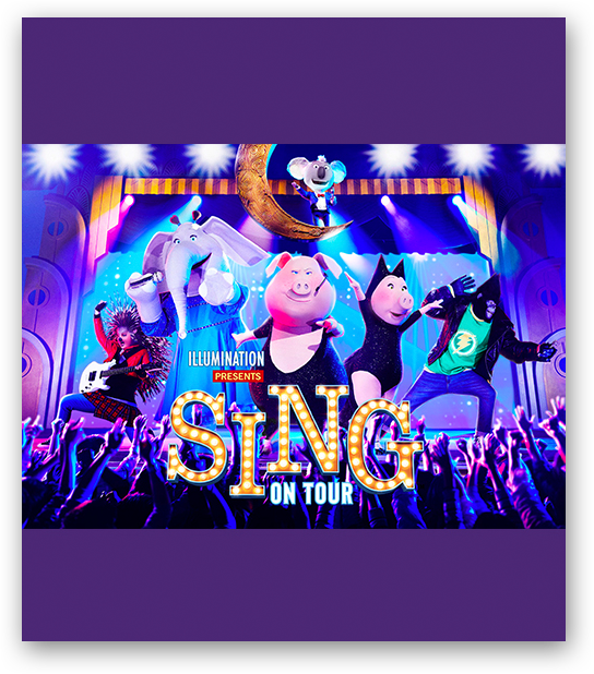 Costumed Team Members performing at Sing On Tour at Universal Studios Japan
