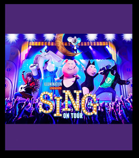 Costumed Team Members performing at Sing On Tour at Universal Studios Japan