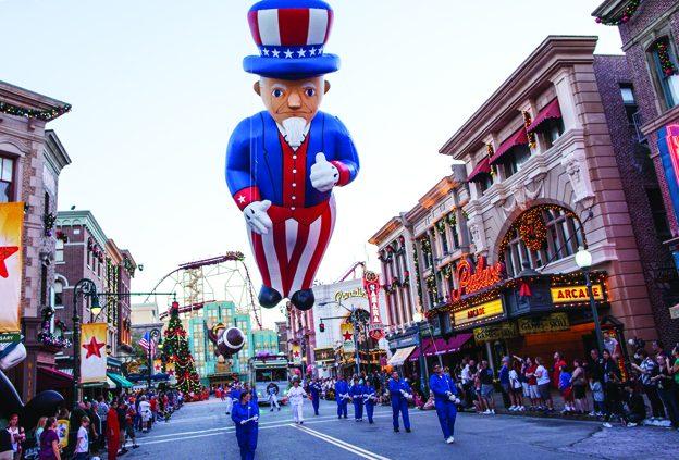 Balloon Handlers at the Holiday Parade
