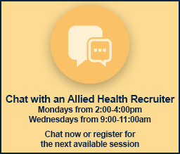 Chat With Allied Health Recruiter