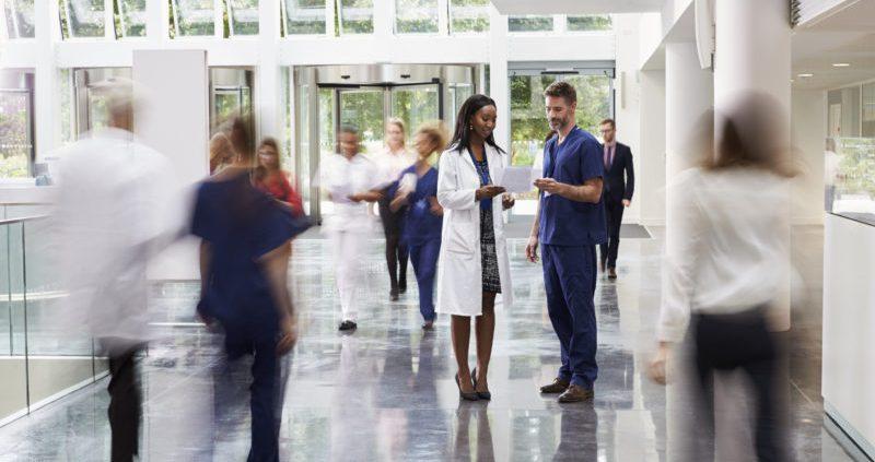 Image of nurse, healthcare facility
