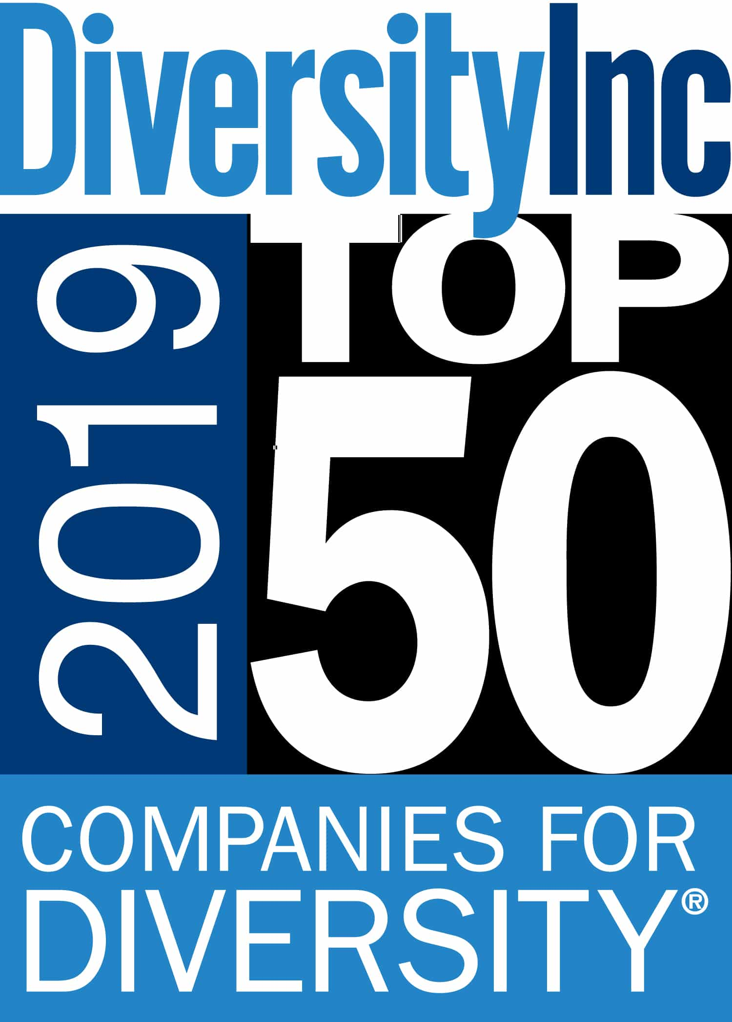 Diversity Inc award - 2019 Top 50 Companies for Diversity