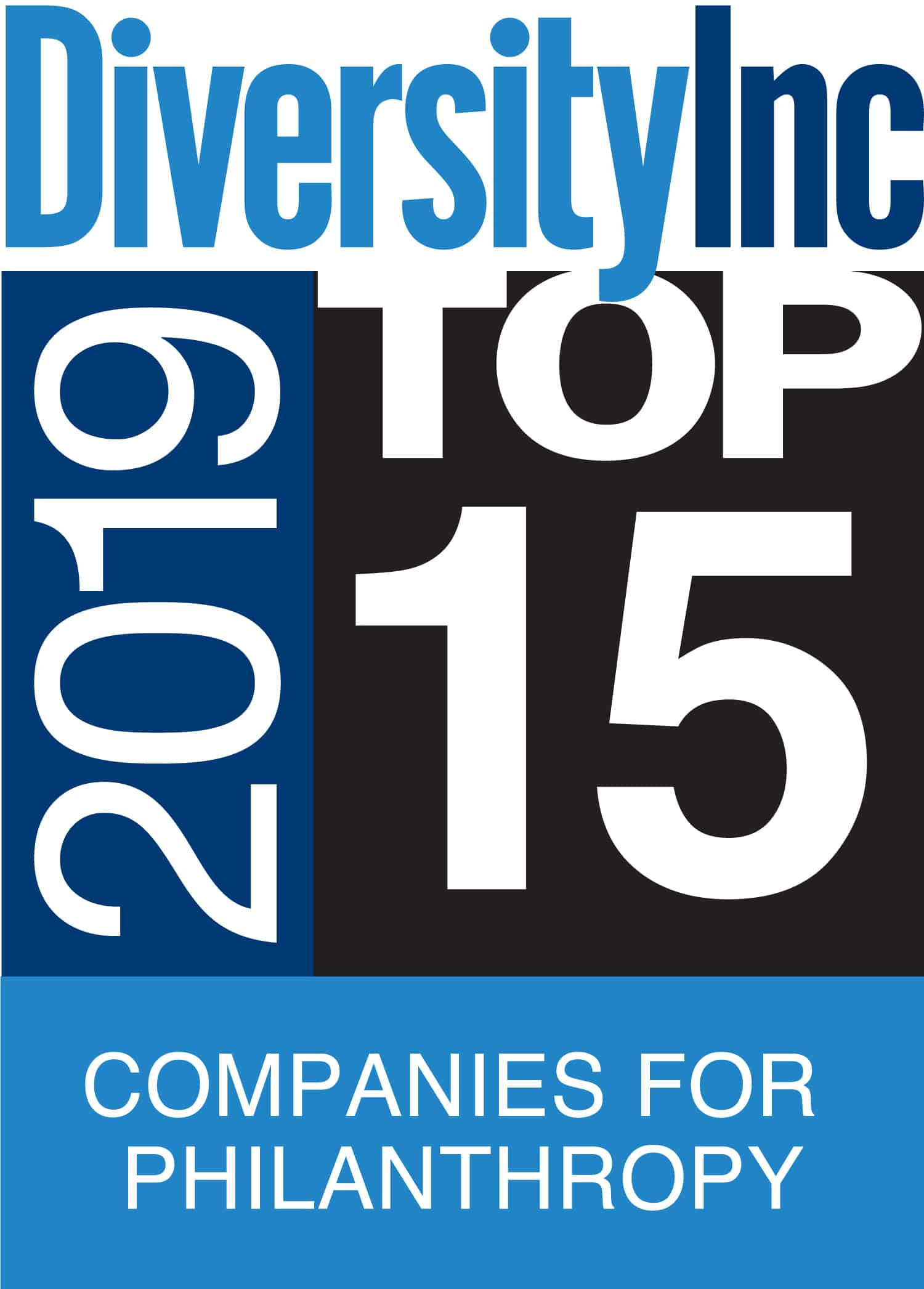 Diversity Inc award - 2019 Top 15 Companies for Philanthropy