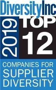 Diversity Inc award - 2019 Top 12 Companies for Supplier Diversity