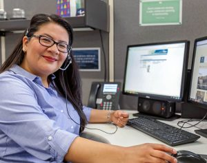Woman working in Cox CAll Center
