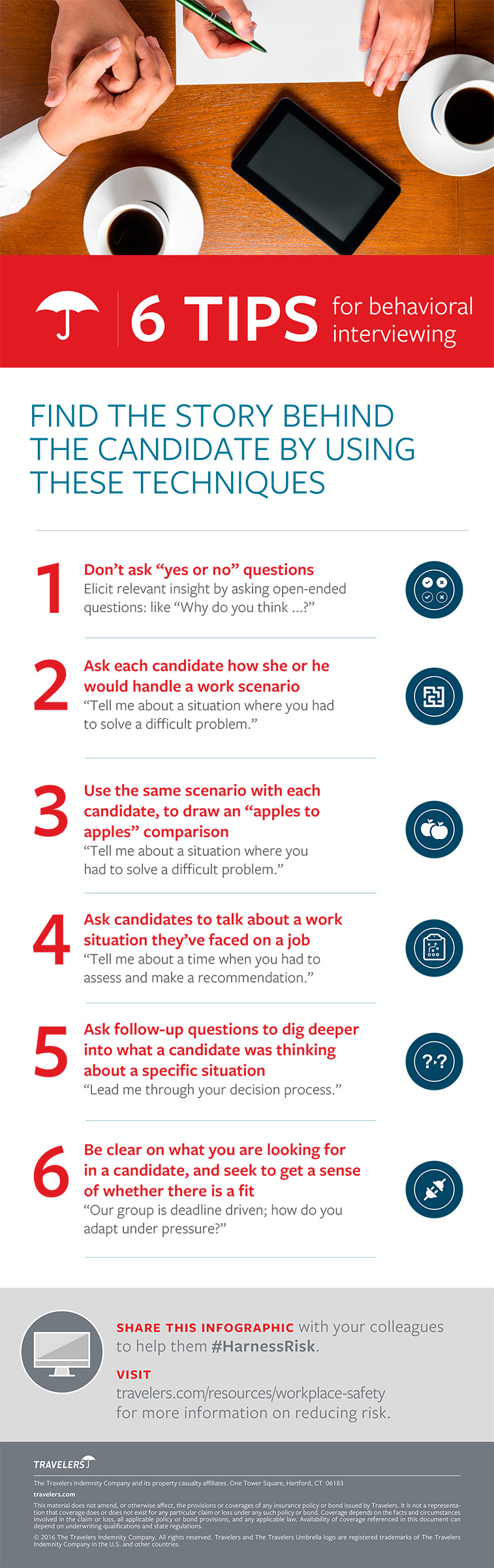 6 Behavioral Interviewing Tips Infographic