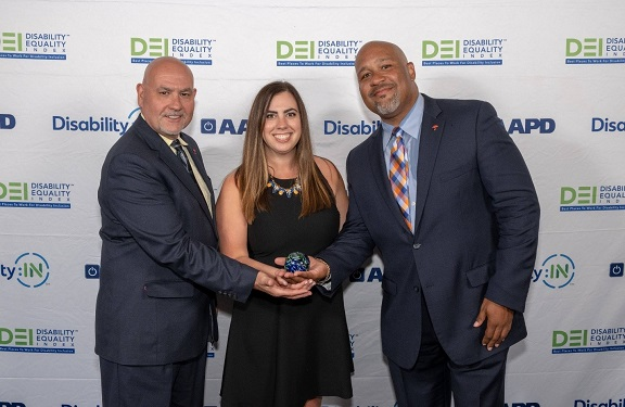 Receiving DEI Best Places Award