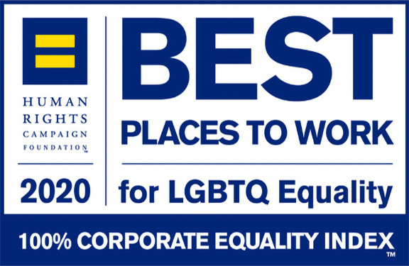 Best Place to Work for LGBTQ Equality by the Human Rights Campaign Foundation