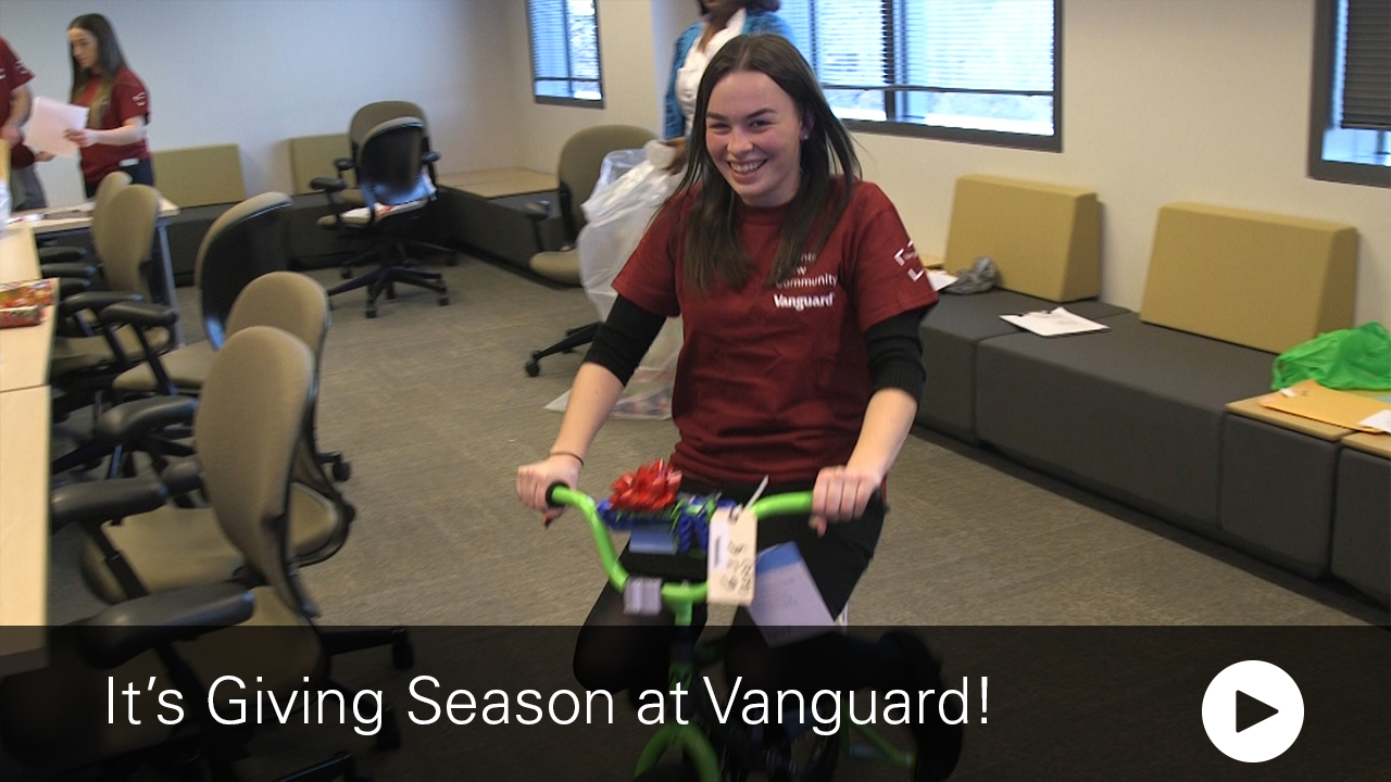 it's giving season at Vanguard
