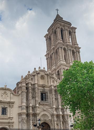 멕시코 살티요의 역사적인 살티요 성당