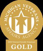 Michigan Veterans Affairs Agency. 2020 Veteran-Friendly Employer Gold.