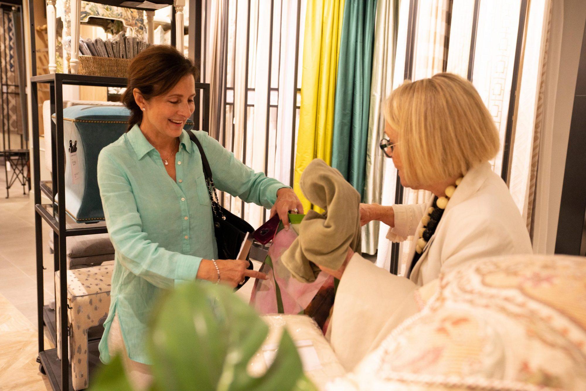 Ballard Designs Retail Team Member with Customer