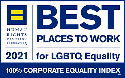 Best Places to Work for LGBTQ Equality 2021, 100% Corporate Equality Index, Human Rights Campaign Foundation