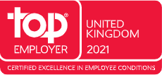 Top Employer United Kingdom 2021, Certified Excellence in Employee Conditions