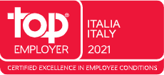 Top Employer Italy 2021, Certified Excellence in Employee Conditions