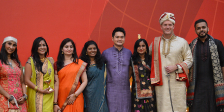 ADP employees celebrating Diwali
