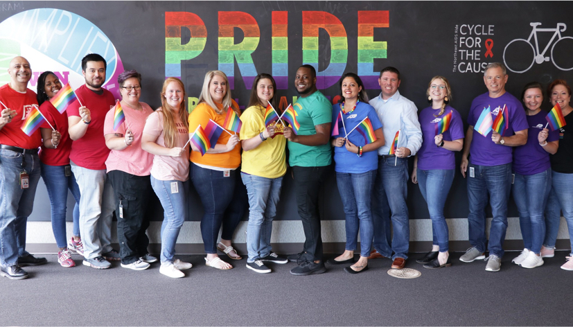 Group of ADP employees at PRIDE celebration