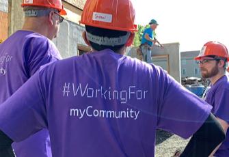 ADP employees volunteering in the community