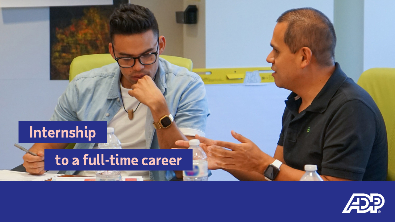 Video: Internships to a full-time career