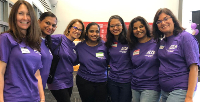 ADP employees volunteer with Girls Who Code clubs