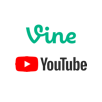 Vine and YouTube logos