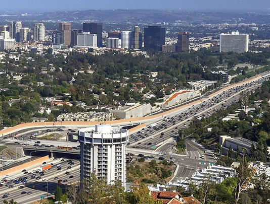 Aerial photo of Westwood