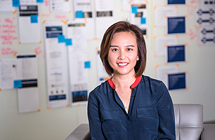 Employee in Hong Kong office