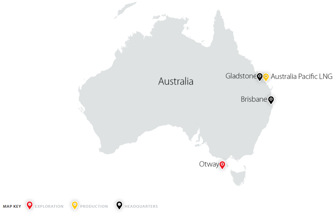 Map of Australia Operations