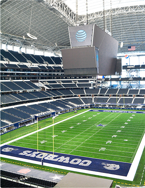 The Dallas Cowboys AT&T Stadium in Arlington