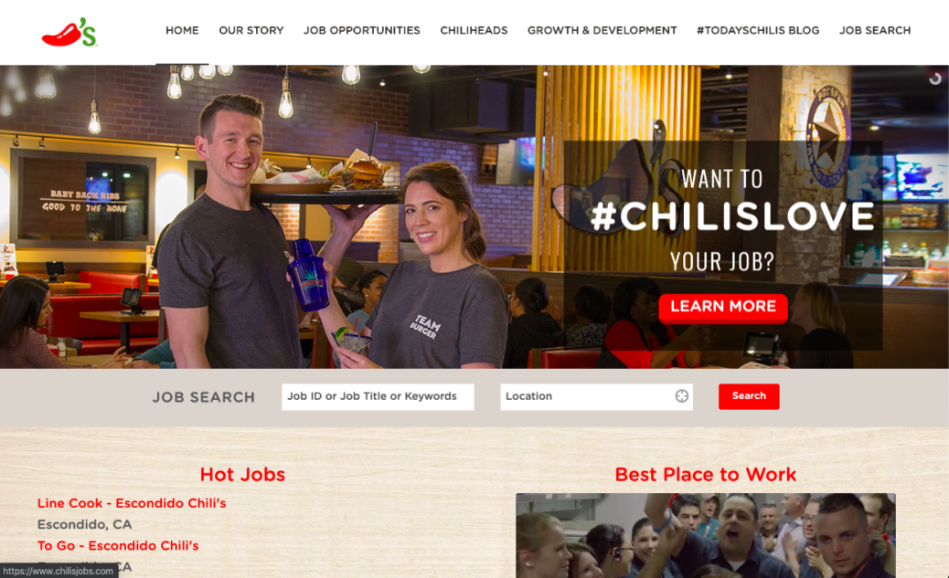Chilis Career Website