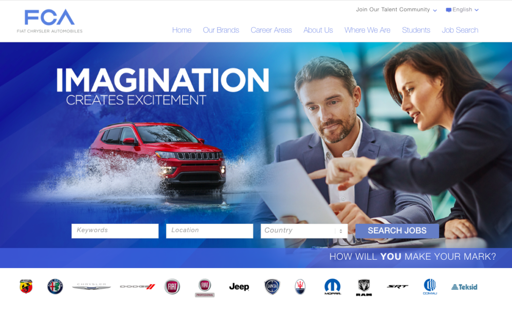 Fiat Chrysler Career Website