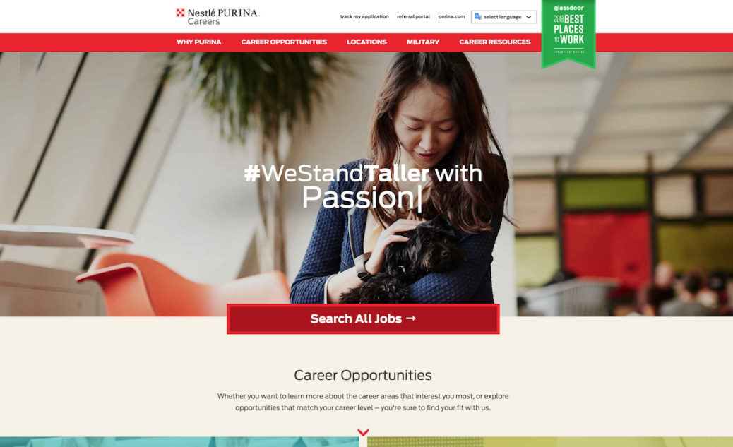 Nestle Career Website