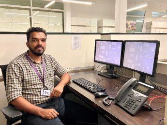 Rohit Sitting at Desk