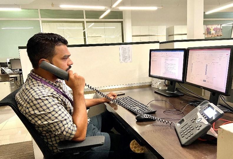 Rohit Talking on Telephone