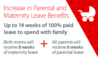 Increase in Parental and Maternity Leave Benefits