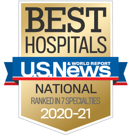 Awarded US News & World Report's Best Hospital 2020-21.