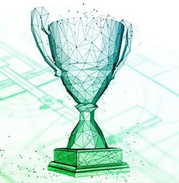 Computer vector graphic of trophy