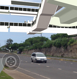 Computer rendering of state-of-the-art overpass on highway