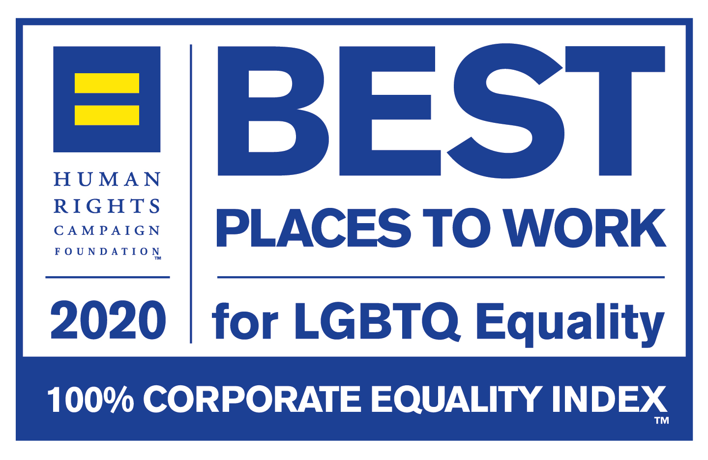 2020 Human Rights Campaign Best Places to Work for LGBTQ+ Equality